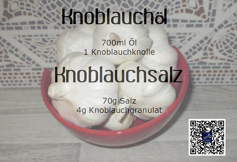 Knoblauchöl und Knoblauch-Salz