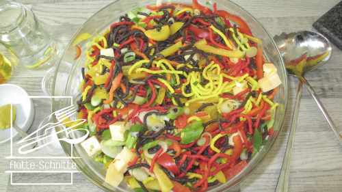 Nudelsalat-Tricolor